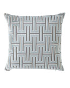 Carlyle Glacier Geometric Pattern Pillow