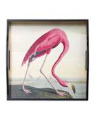 Audubon Birds Flamingo Tray