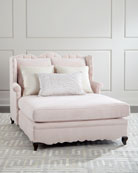 Bella Blush Tufted Back Chaise