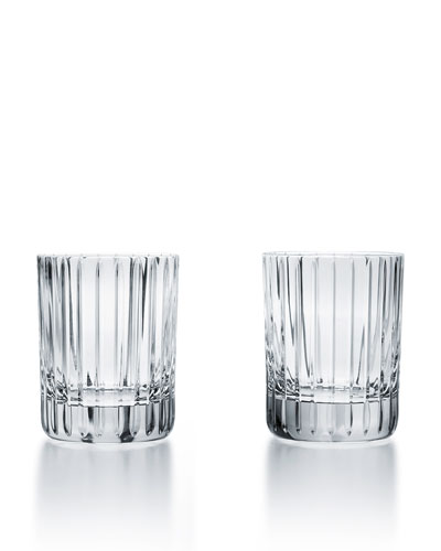 Harmonie Crystal Triple Old Fashion Tumblers, Set of 2