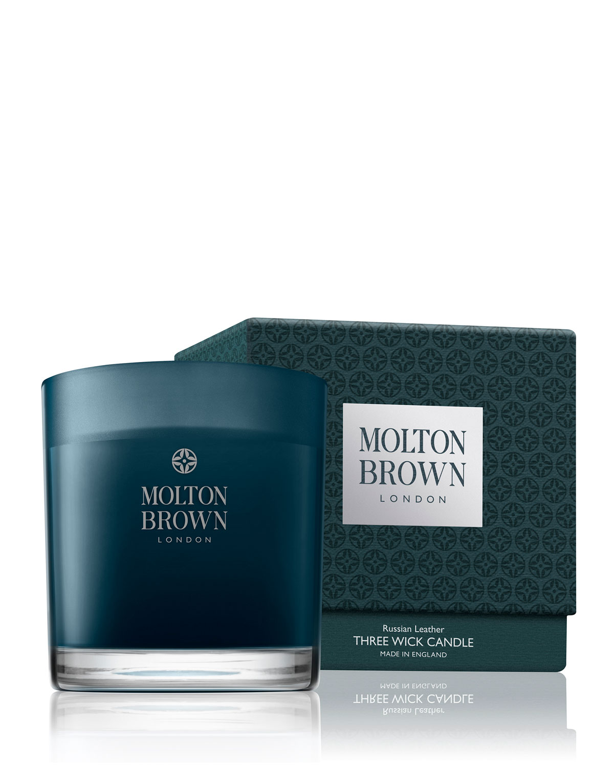 Molton Brown Russian Leather Three Wick Candle, 16.9 oz. /  479 g