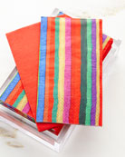 30 Guest Towels in Acrylic Holder - Balthazar Stripe