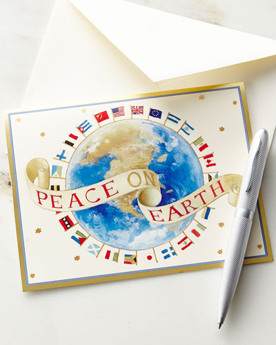 Peace on Earth Printed Cards with Envelopes, Set of 16
