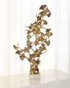Gingko Leaves on White Marble