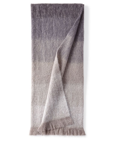 Michael Aram Dip Dyed Mohair Throw Blanket, Charcoal