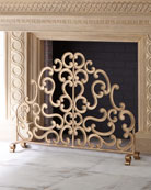 Antiqued Gold Iron and Told Double Scroll Single-Panel