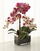 White and Purple Orchid Faux-Floral Arrangement