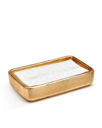 Ava Towel Tray, Gold