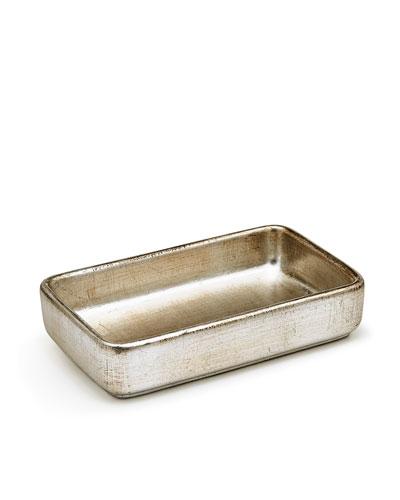 Ava Towel Tray, Silver