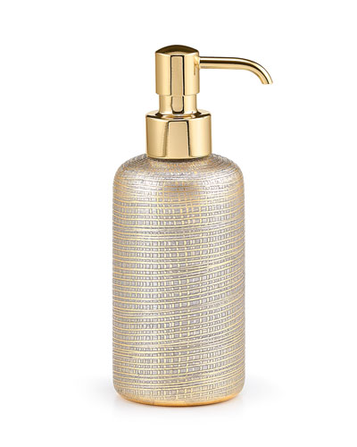 Woven Metallic Pump Dispenser with Golden Polished Top