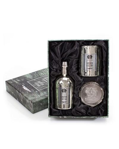 Antica Farmacista Candle / Tray Gift Set  -  Silver Cedar, 8.4 oz. /  250 mL