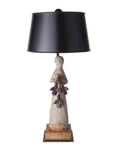 St. Francis Stone Lamp