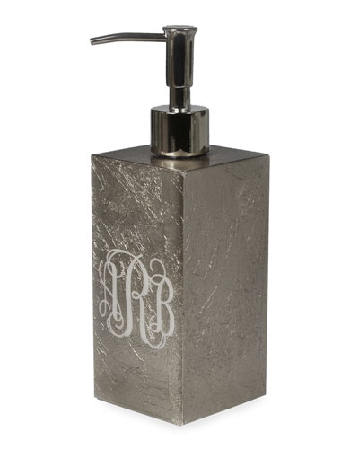 Eos Monogram Box Pump, Silver