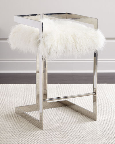 Neema Sheepskin Counter Stool