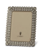 "Decorative Noir Frame with Crystals, 4"" x 6"""