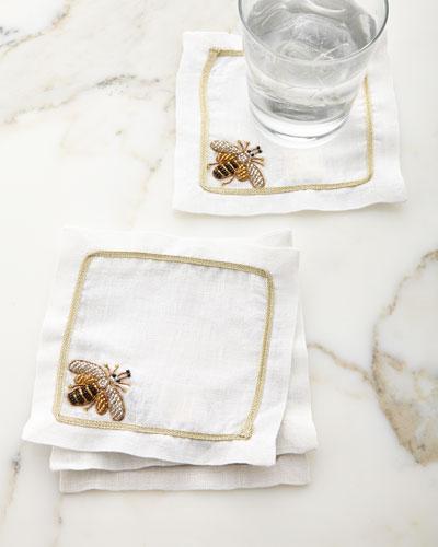 Sparkle Bee Cocktail Napkins, Set of 4