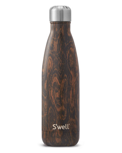 WENGE WOOD FAUX-BOIS 17-OZ. WATER BOTTLE