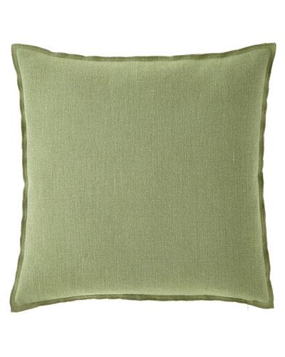 Brera Lino Decorative Pillow, Olive