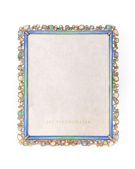 """Jay Strongwater Oceana Bejeweled Picture Frame, 8"""" x 10"""""""