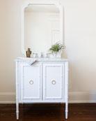 Sarita Marble-Top Bath Vanity