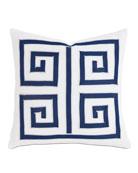 "Watermill Indigo Decorative Pillow, 18""Sq."