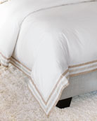 Eastern Accents Watermill Taupe Queen Duvet and Matching