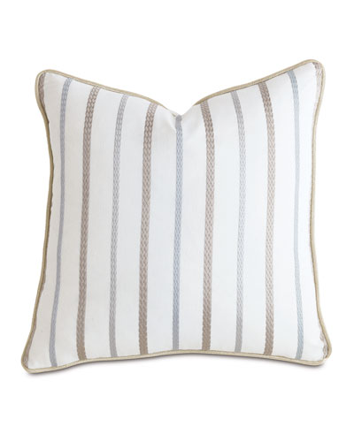 Watermill Taupe Decorative Pillow, 22