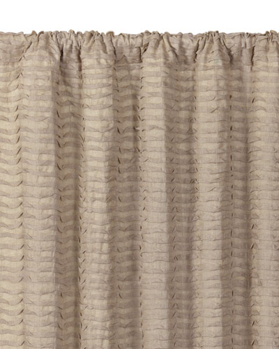 Yearling Flax Rod Pocket Curtain Panel, 96