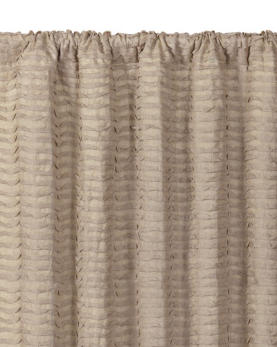 Yearling Flax Rod Pocket Curtain Panel, 108