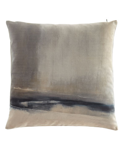 Enigma Printed Velvet Pillow, 20