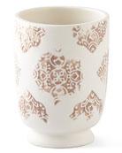 John Robshaw Lakki Porcelain Lotion Pump, Taupe and
