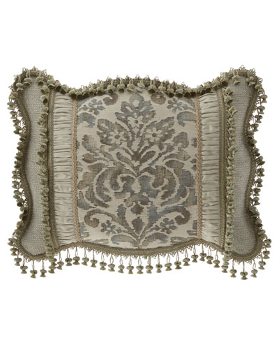 Delany Pieced Standard Sham with Scallop Edge