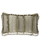Delany Oblong Pillow with Onion Trim