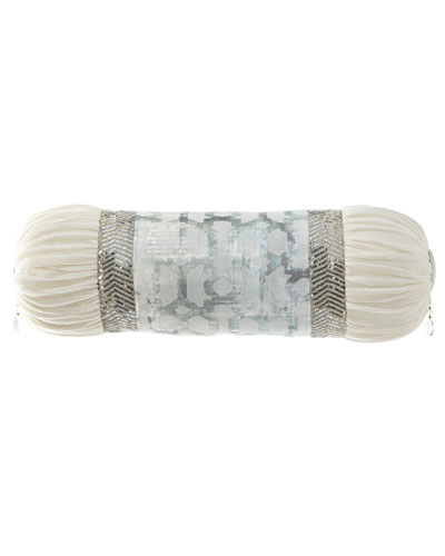 Cristabella Neck Roll Pillow with Sequin Trim