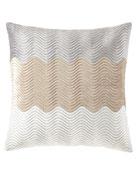 """Velvet Wave Pillow, 22""""Sq."""
