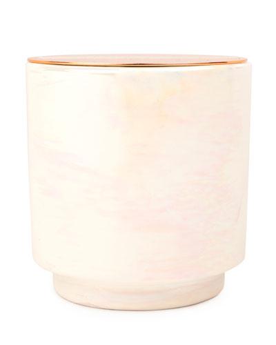Cotton & Teak Iridescent Ceramic Candle, 17 oz./482g