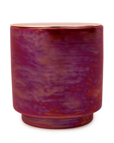 Cranberry Rose Iridescent Ceramic Candle, 17 oz./482g