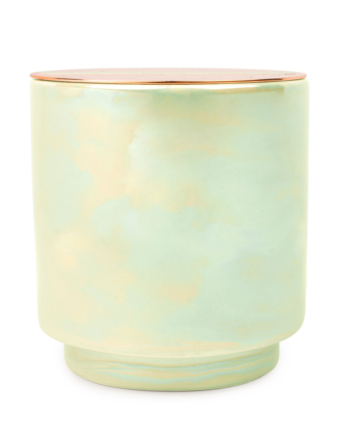 Paddywax White Woods & Mint Iridescent Ceramic Candle, 17 oz. / 482g