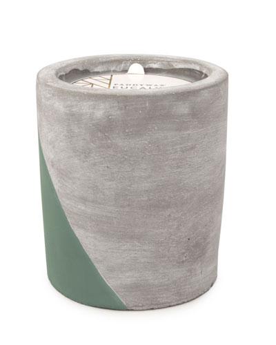 Eucalyptus & Santal Large Concrete Candle, 12 oz./340g