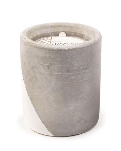 Tobacco + Patchouli Large Concrete Candle, 12 oz./340g