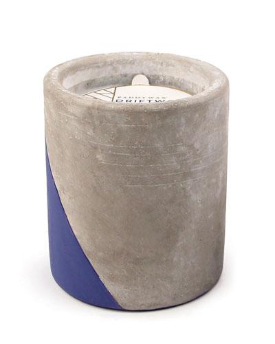Driftwood + Indigo Large Concrete Candle, 12 oz./340g