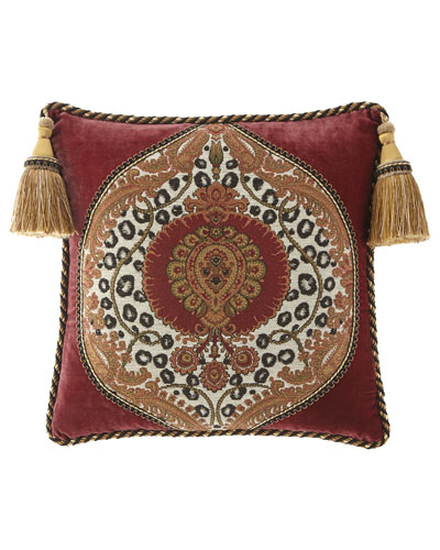 Maximus Boutique Pillow with Tassels