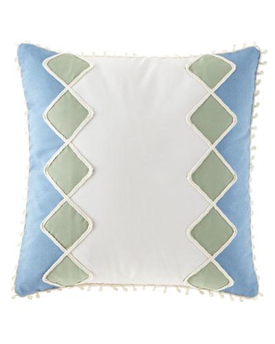 Celerie Kemble Sail Celadon Diamonds Pillow, 20