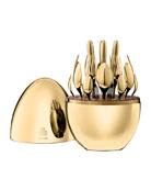 24-Piece Gold Mood Flatware Service