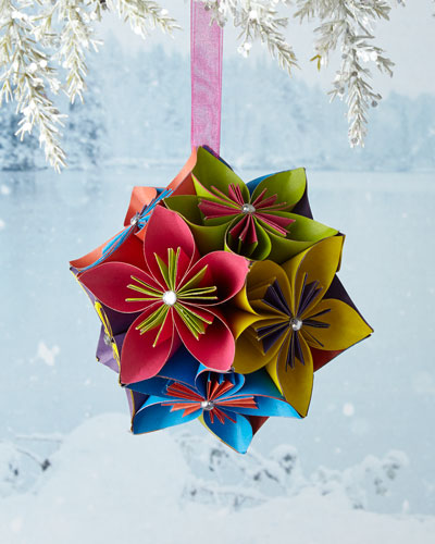 Flower Ball Ornament