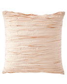 Aurora Pleated Silk European Sham