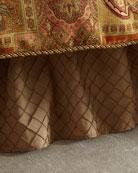 Diamond Stitched King Dust Skirt