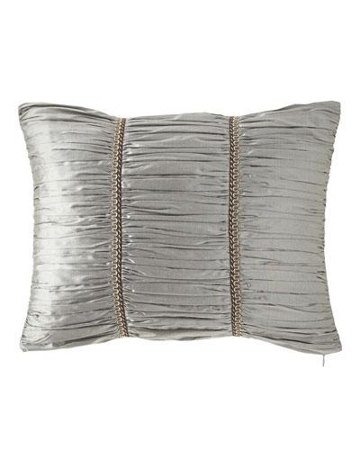 Rockwell Silk Boudoir Pillow, 14