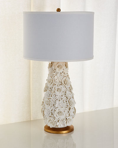 Porcelain Flower Lamp