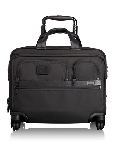 4-Wheel Deluxe Laptop Case, Black